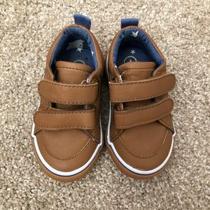 Cat & Jack Tan Velcro Sneakers